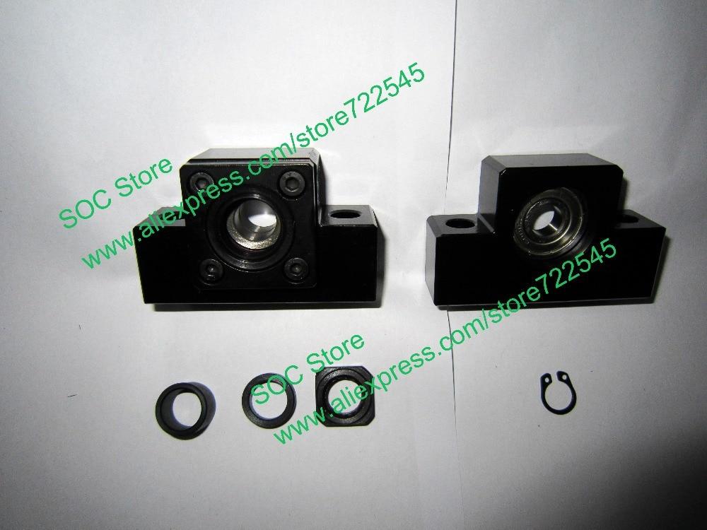 EK12 & EF12 Ballscrew End Support CNC Parts cheap end support unit ek ef12 for sfu1604 sfu1605 sfs1610 sfe1616 ballscrew 1pc ek12 1pc ef12