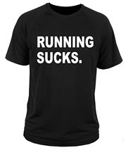 T shirt t-shirt Runninger Sucks iron man  Free shipping newest Fashion Classic Funny Unique gift
