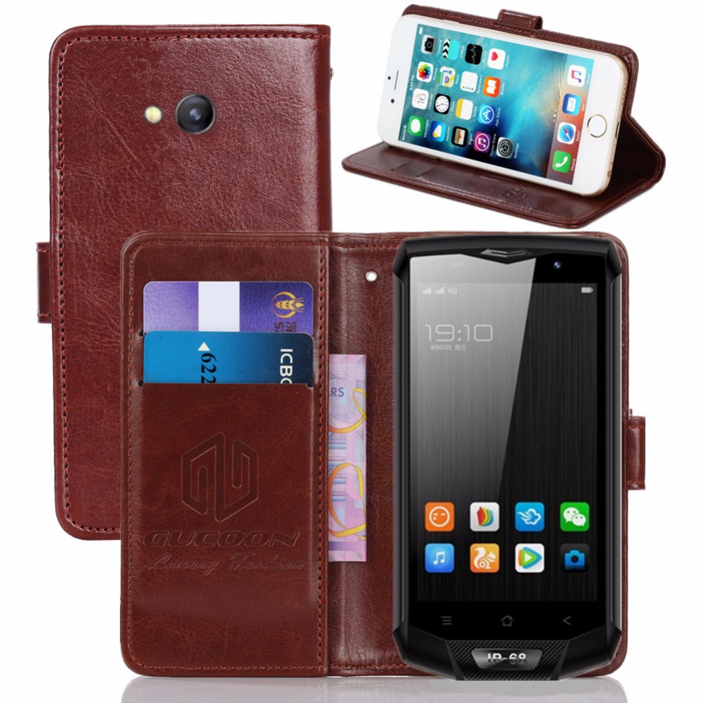 GUCOON Vintage Wallet <font><b>Case</b></font> for <font><b>Blackview</b></font> <font><b>BV8000</b></font> <font><b>Pro</b></font> 5.0inch PU Leather Retro Flip <font><b>Cover</b></font> Magnetic Fashion <font><b>Cases</b></font> Kickstand Strap image
