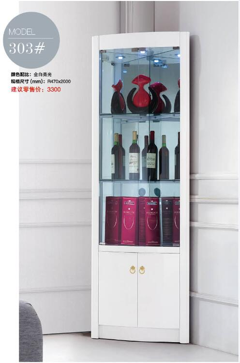 303# Modern Living Room Furniture Living Room Corner Cabinet Round Corner  Display Cabinet Round Showcase Wine Cabinet In Living Room Cabinets From  Furniture ...