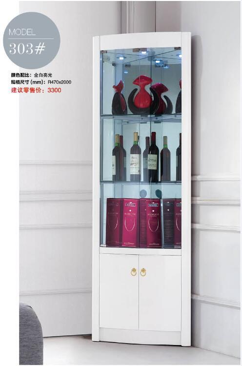 303 modern living room furniture living room corner cabinet round corner display cabinet round showcase wine cabinet