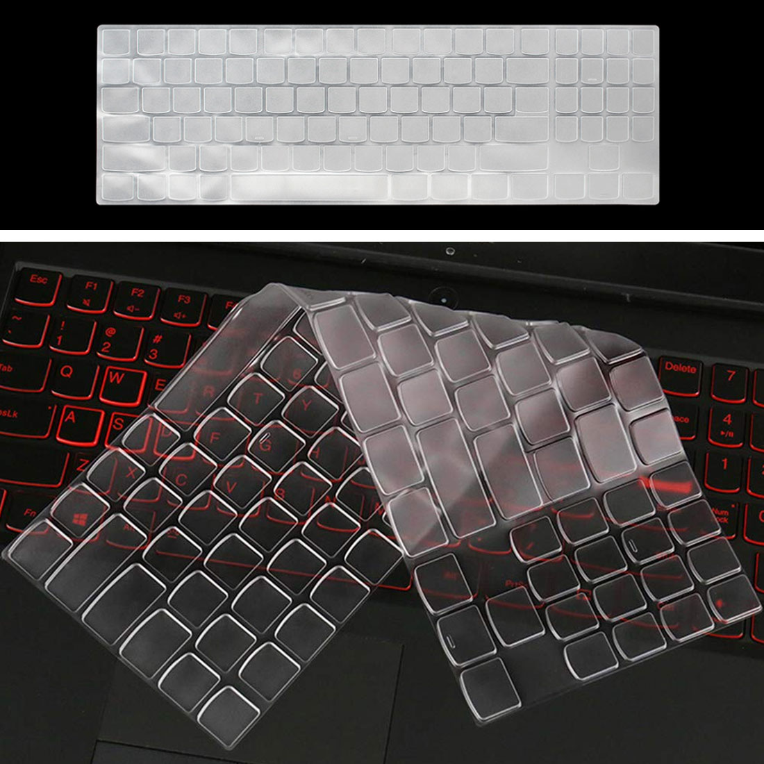 Rainbow 2020 15 Inch Silicone Keyboard Cover Protective Skin for 15.6 Inch Lenovo Legion Y740 Y730 Y720 Y520 Y530 R720 R730 R720 15Ikbn