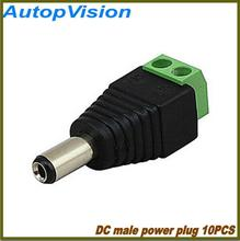 Free shipping 10pcs/lot 5.5 x 2.1mm DC Power Male Jack Connector Plug DC Male Adapter Plug Connector for CCTV Camera