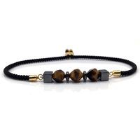 NAIQUBE 2018 New Fashion Men Women Adjustable   Bracelet     Bangle   charm Stone Strand Rope   Bracelet   For Men Women Jewelry Gift