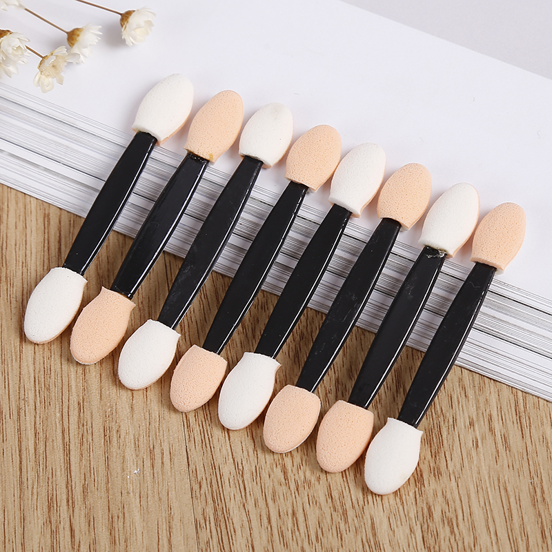 ELECOOL 10pcs/set Eyeliner Eye Shadow sponge makeup Lip Brush Disposable Double-Ended Sponge Make-Up Applicator Beauty