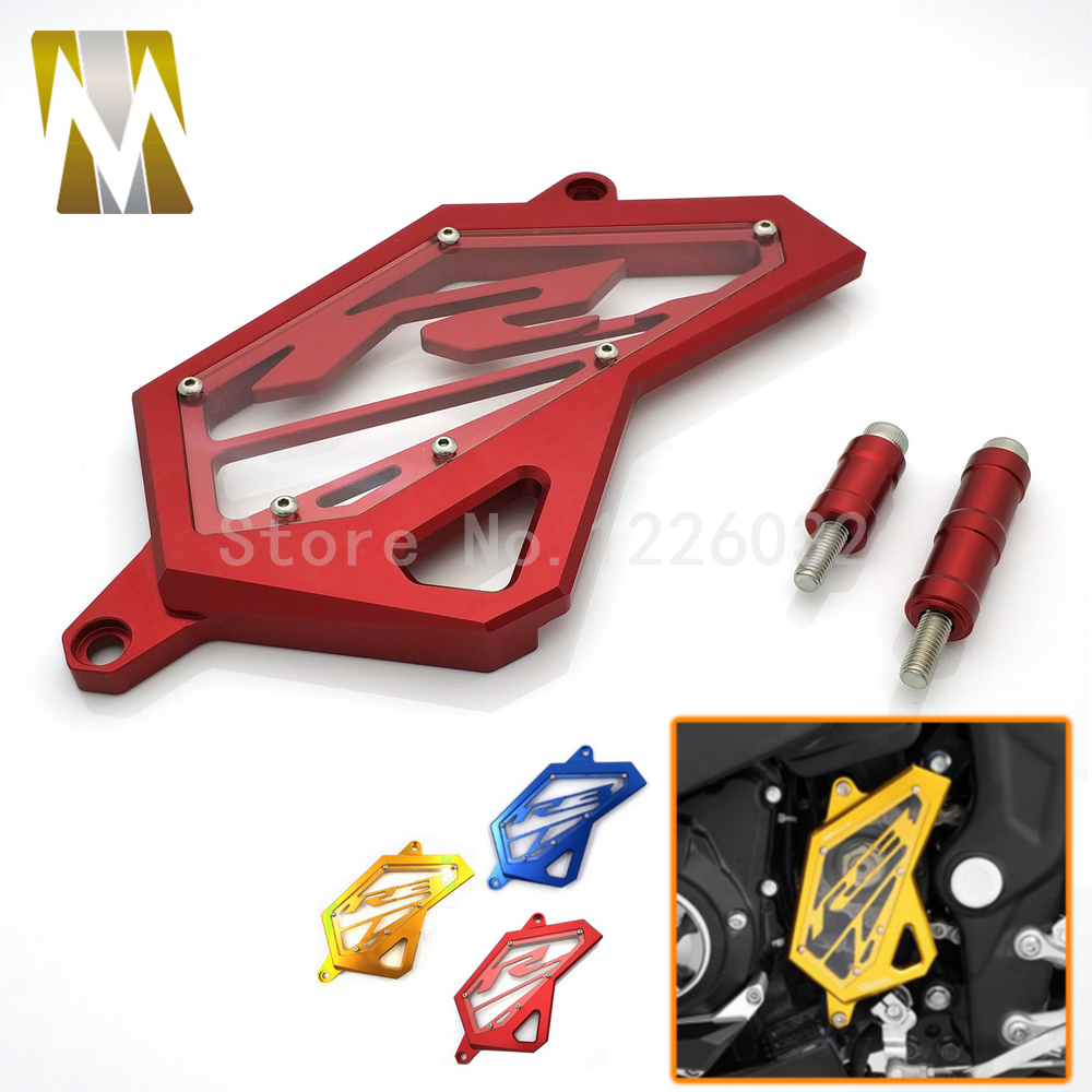 New Front Sprocket Chain Guard Cover Left Side Engine Protector For Yamaha R3 MT03 MT25 2015-2017,R3 ABS 2017,R25 2013-2017 waase motorcycle rear back drive chain guard mud cover panel shield fairing cowl protector for yamaha yzf r3 r25 mt 03 mt 25