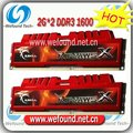 Hot sell! Brand new for G.SKILL DDR3 1600 2G*2 ram for desktop computer overclocking F3-12800CL9D-4GBXL
