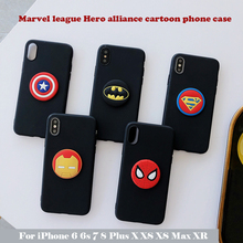 Marvel league Hero alliance cartoon Phone Case for iphone 6 7 8Plus X xs Max rall inclusive TPU Cover x 8plus