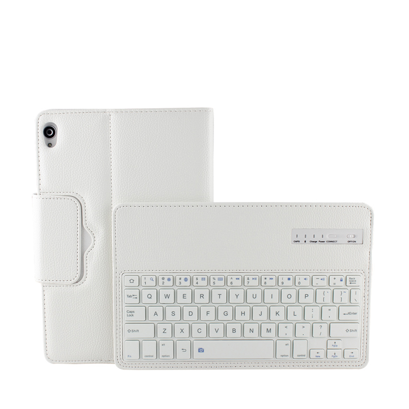 Y wholesales For Google Nexus 9 8.9 inch Tablet PC Removable Wireless Bluetooth Keyboard ABS Keys with holder+Leather Case cover