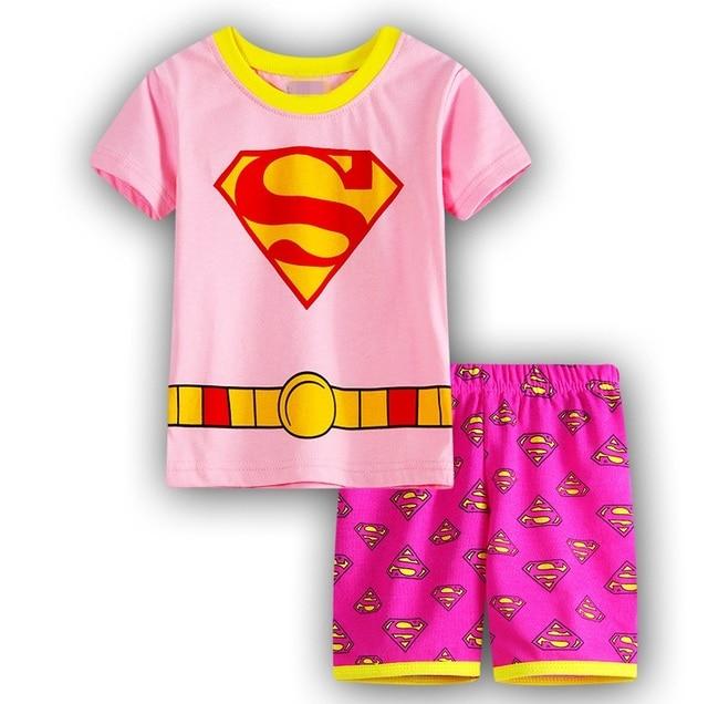 Boys Girls Pijamas Kids Set Enfant Sleepwear Children's Pyjamas Clothing Sets Kids Pajamas 2-7 Years summer Cartoon Pyjamas