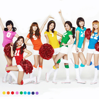 Wholesale School Girls GENERATION Candy Color CHEER Set Athletic Gym Dance Sport Women Kit Cheering Squad