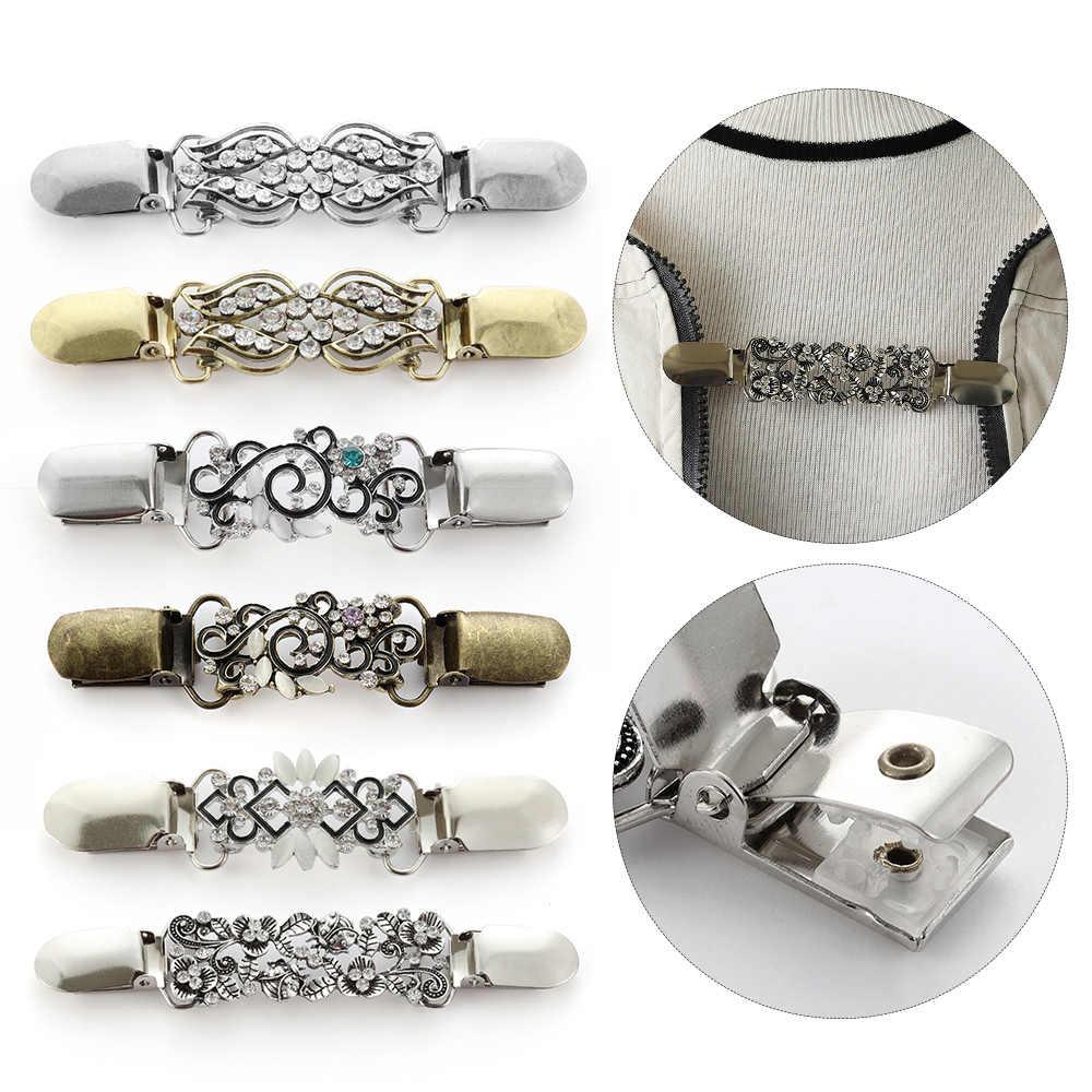 Abbigliamento di cristallo Spilli Metallo Gold & Silver Pinze Cardigan Clip Collare Maglione Camicetta Spille Scialle Spille Catenacci di Fascino Accessori