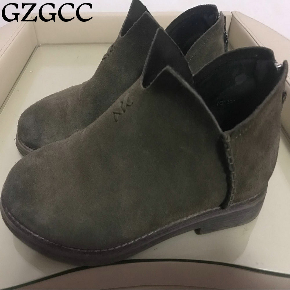GZGCC New Fashion Soft Women Ankle Boots Spring Autumn Vintage Shoes Woman Outdoor Rain Boot Ladies High Heels Footwear