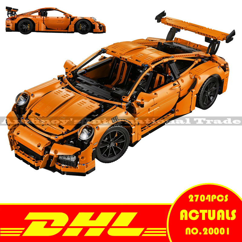 LEPIN 20001 2704Pcs Technic Series 911 GT3RS Race Car Model Building Kits Blocks Bricks Toy Compatible With Gift 42056