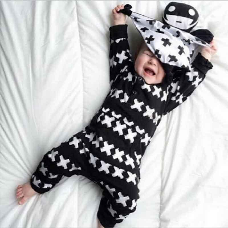 Baby Boys Girls Rompers NO SLEEP Infant Girl Boy Romper For Children Toddler New Jumpsuit X Letter Printed Full Sleeve Clothing