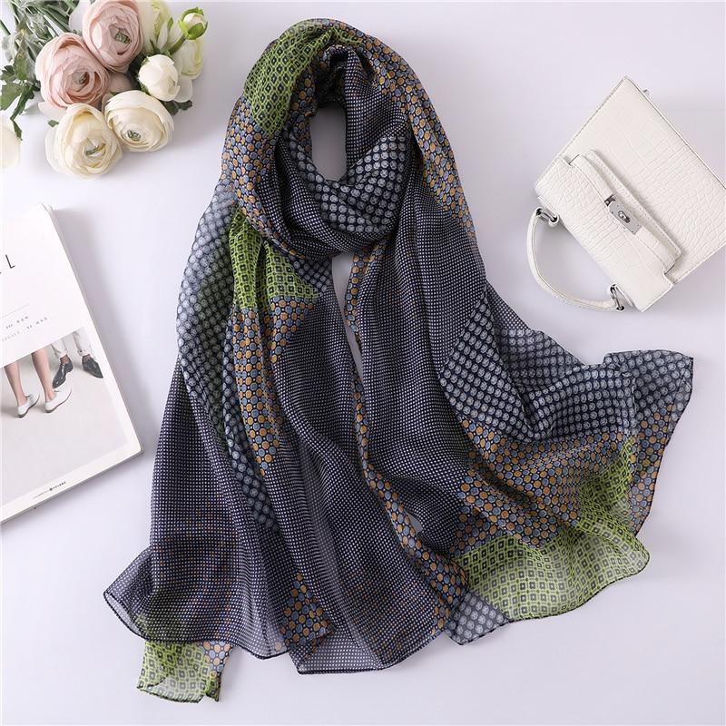 2019 new summer silk   scarf   for women long size pashmina lady shawl female   wraps   bandana foulard hijabs print soft beach stoles
