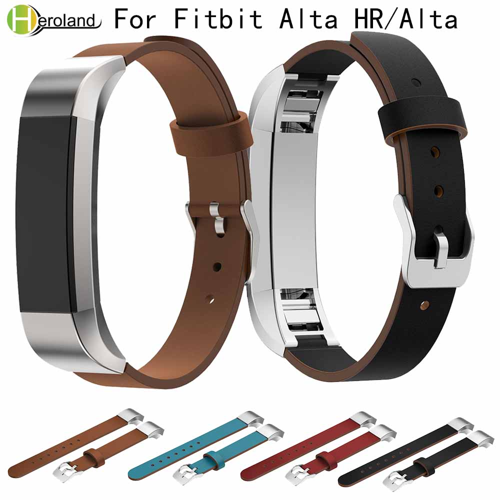 Luxury Genuine Leather Replacement Strap for Fitbit Alta/Alta HR Tracker wrist bracelet watchstrap Black watch band High QualityLuxury Genuine Leather Replacement Strap for Fitbit Alta/Alta HR Tracker wrist bracelet watchstrap Black watch band High Quality