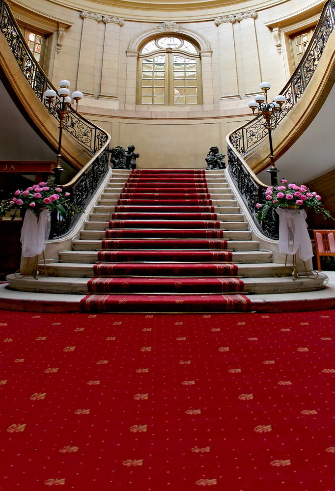 Indoor Palace Stair Photo Background Long Red Carpet Sweet 16 Backdrop Pincess Birthday Party Photography Backgrounds