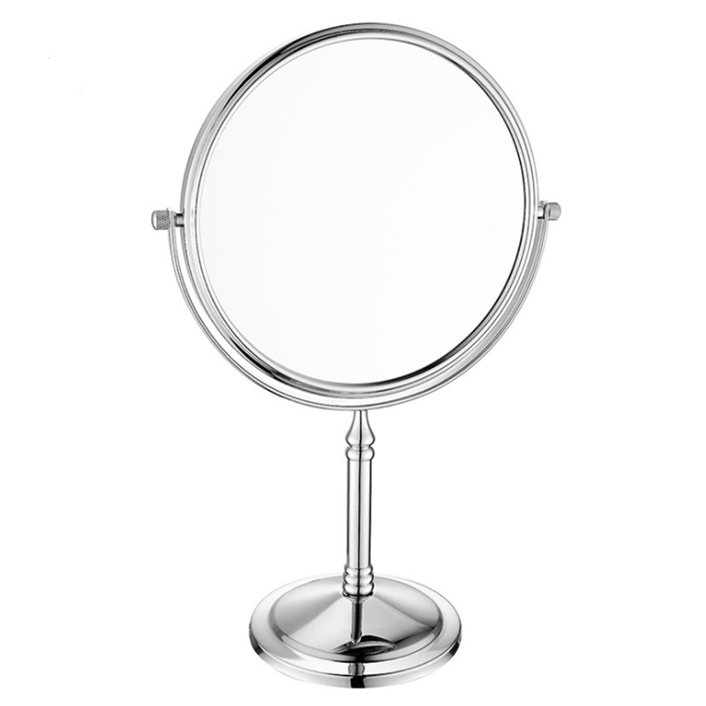 6-Inch dubbelzijdige make-up ovale vergrootspiegel, badkamer koperen metalen spiegels, speciale make-up vergrootglas effect.