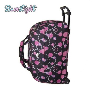 Bomlight Fashion Waterproof Luggage Bag Rolling Suitcase With Wheels