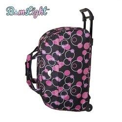 Bomlight модная водонепроницаемая сумка для багажа, толстый стиль, чемодан на колесиках, багаж для женщин и мужчин, дорожные сумки, чемодан с кол...
