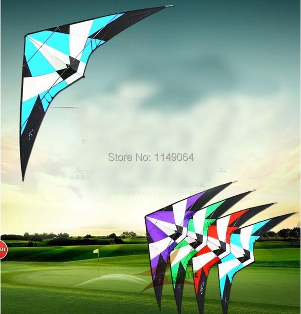 Envío de la alta calidad grande 2.7 m tormenta doble línea cometa del truco con mango línea de cometas albatros volador juguetes al aire libre hcxkite