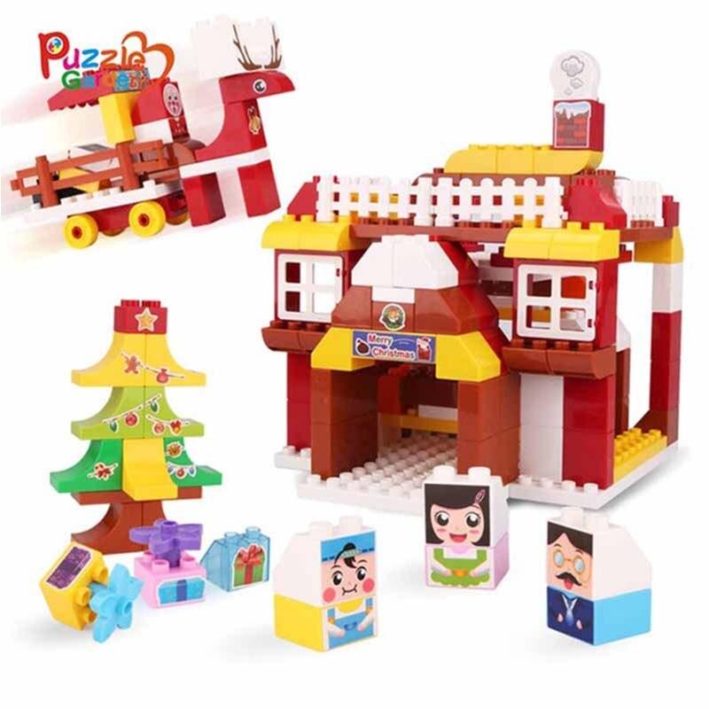 Детская Building Block игрушки дом здание построить Building Block модели родитель ребенок взаимодействия подарок детские развивающие игрушки
