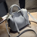 2016 New Fashion Handbags Boston Women Handbag Shoulder Bag Women Messenger Bags sac a main femme de marque Solid Pillow Bags
