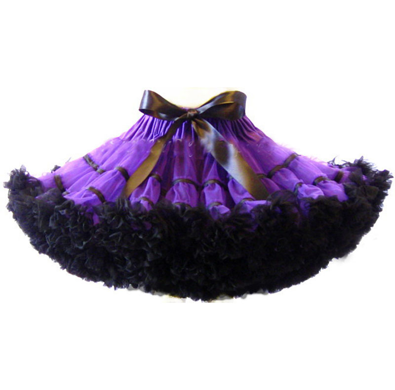 Women Teen Mini Skirt Pettiskirt S M L Ruffle Chiffon Ballet Tull Summer Women Tutu Skir ...