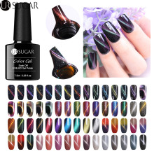 UR SUGAR Chameleon Cat Eye Glitter Nail Gel Varnish 3D Magnetic Soak Off UV Polish Lacquer with Strong Board