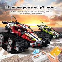 sports Building Blocks toy Technic Series RC Track Remote control Race Car Set Bricks Educational Toys Compatible with legoed