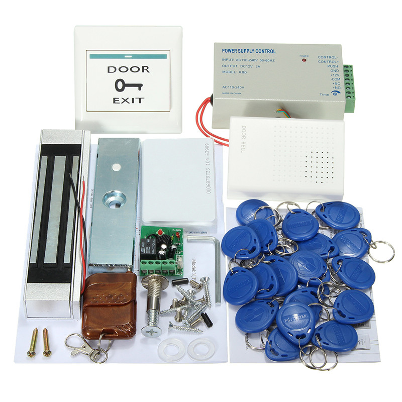 NEW Entry Strike Door Lock Access Control System Bell 20 ID Card Remote Home Office New Arrival Durable Quality rfid entry door lock id card access control system home office security 10 keys use for any need to access control channel