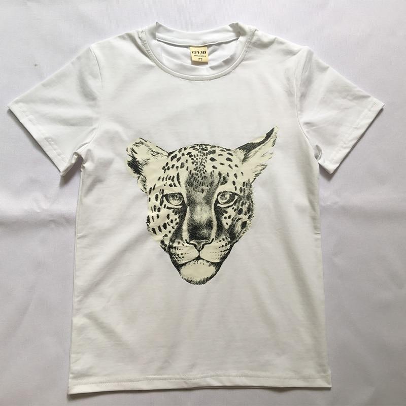 Zwart Luipaard gezicht T-shirt Kid jongens cool kinderen T-shirt - Kinderkleding - Foto 1