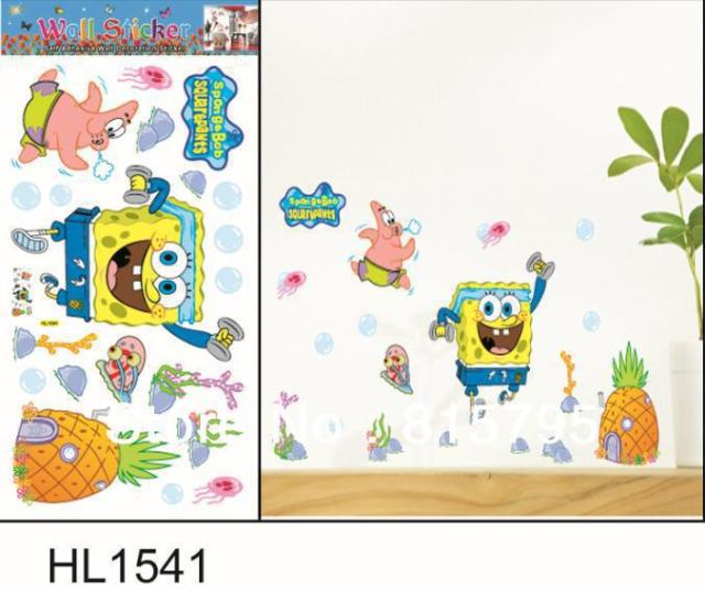 Sevendays HL SpongeBob Child Room Sticker Quality Cartoon - Spongebob wall decals