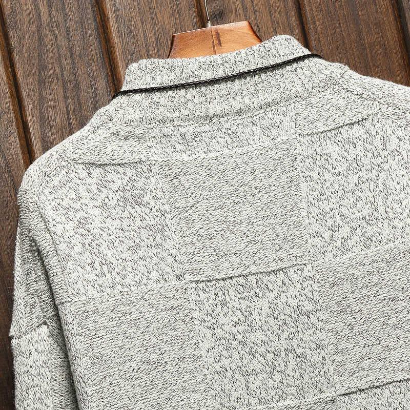 Uomo Maglie E Maglioni Primavera Autunno Inverno Vestiti 2020 Più Il Pull OverSize M-4XL 5XL 6XL Stile Del Giappone Casual Standard Del Progettista Pullover