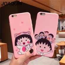 Cartoon Coque Case For iphone 6 6s 7 8 Plus X Xs Max Xr Case Soft Sakura Momoko Chibi Maruko Chan Cover Soft TPU Phone Case 14pcs lot japanese anime cartoon chibi maruko chan sakura momoko happy family pvc action figures toys dolls for gift