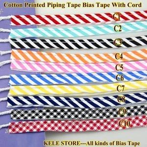 Image 2 - Trasporto libero 100% Cotone Bias Tubazioni, Piping tape, Nastro bias con cavo, formato: 12mm, 50yds, per FAI DA TE cucito tessile solido col Nero