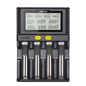 Image 3 - Miboxer C4 12 Pin Thông Minh 18650 26650 Sạc 4 Khe Cắm Màn Hình LCD 3.0A/Khe cắm tổng 12A cho Li Ion/ IMR/INR/ICR/Ni PK liitokala500