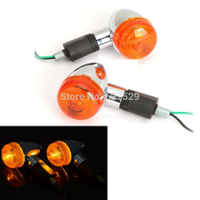 2X Motorcycle Amber Turn Signals Indicator Blinker font b Lamp b font Light For Honda Shadow