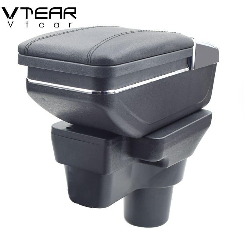 Vtear Pour Hyundai solaris 2/décor/Verna boîte d'accoudoir central boîte de contenu de Magasin porte-gobelet cendrier accessoires intérieurs 2017/2018