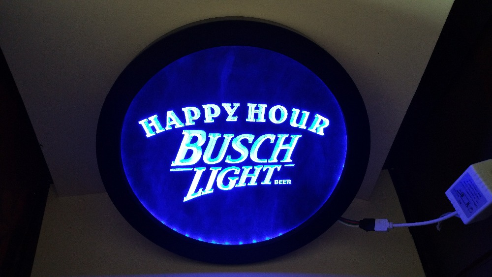 Busch Light Beer Happy Hour RGB led Multi Color the