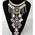2017 new fashion bohemian power tassel choker necklace vintage gypsy ethnic statement necklaces women Maxi necklace fine Jewelry