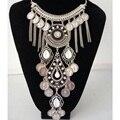 2017 nueva moda bohemia borla de energía choker collar vintage gypsy étnico declaración collares mujeres maxi collar de la joyería fina