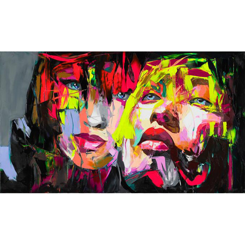 Nielly Francoise Knife Palette Picture Modern Pop Art Hand Painted Abstract Oil Paintings Art Wall Decoration Cool Face Fine ArtNielly Francoise Knife Palette Picture Modern Pop Art Hand Painted Abstract Oil Paintings Art Wall Decoration Cool Face Fine Art
