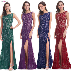Image 3 - Mermaid Evening Dress Ever Pretty EP08859 2020 Long Sexy Sleeveless Split Formal Celebrity Lace Evening Gown Dresses robe longue