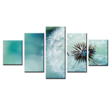 5 Panels Dandelion West Series Canvas Print Painting Modern Wall Art for Picture Home Decor Artwork