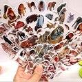 5 Листов/комплект Дикой Природы Диких Животных Скрапбукинг Пузырь Пухлые Наклейки Kawaii Emoji Вознаградить Детей Игрушки Завод Прямых Продаж ST01