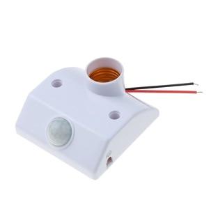 Image 4 - Kebidu אוטומטי גוף אדם אינפרא אדום IR חיישן LED הנורה אור E27 בסיס PIR תנועת גלאי קיר מנורת בעל שקע AC 110V 220V
