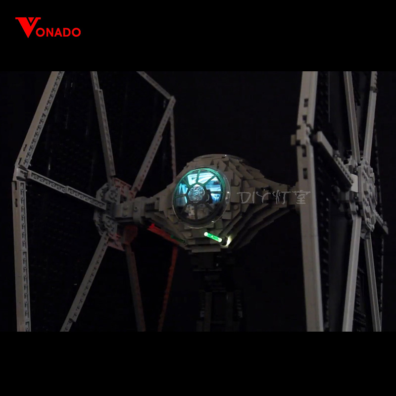 LED light for lego 75095 Compatible <font><b>05036</b></font> Star Wars UCS TIE Fighter Building Blocks Bricks Toys (only light with Battery box) image