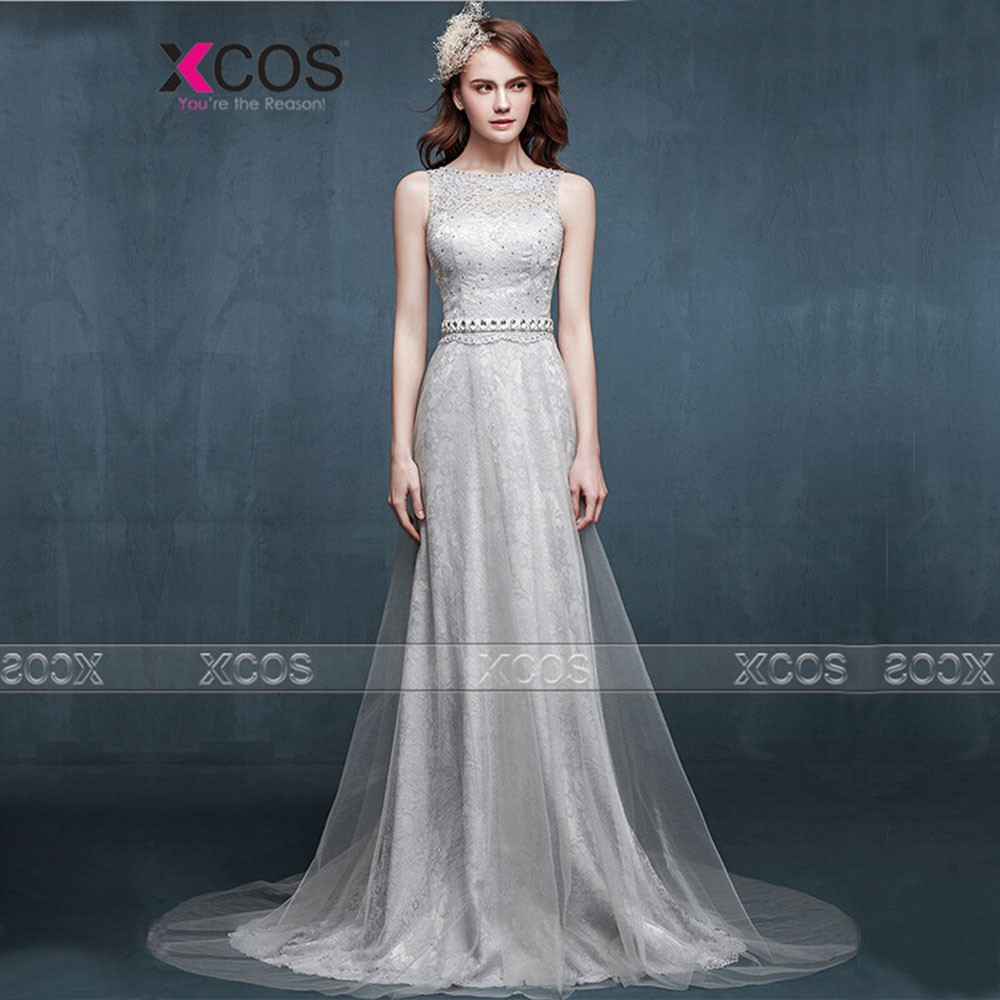 New-Fashion-Elegant-A-line-Scoop-Beaded-Silver-Lace-Long-Evening-Dress-2015-Evening-Party-Dress